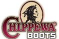 Clickable Chippewa Boots Logo, which takes you to the shoes page.